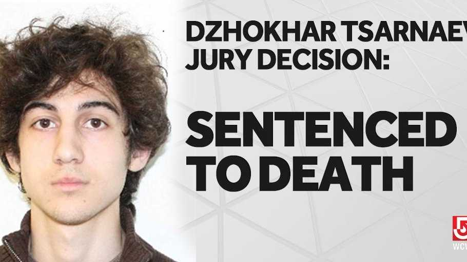 Dzhokhar Tsarnaev is sentenced to death for his role in the Boston Marathon bombings in 2013.