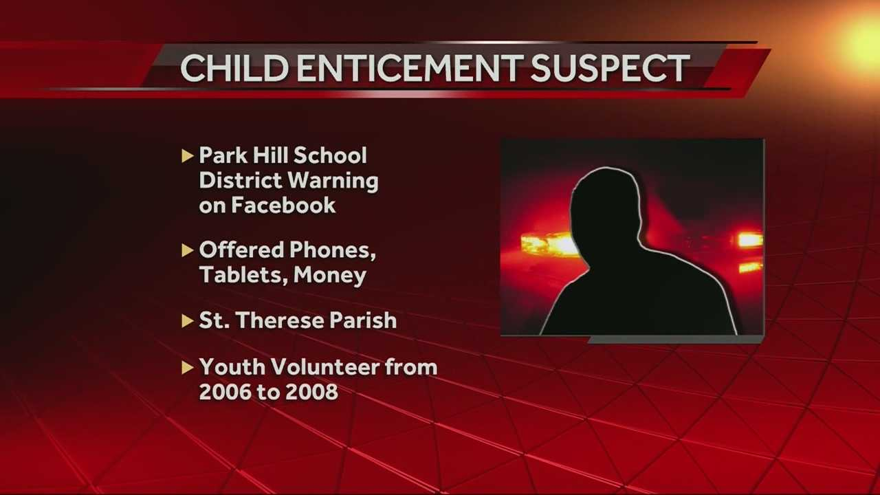 Police investigating a child enticement case linked to a school, Catholic church and a gymnastics center said they believe there are at least six children involved.