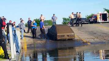 Leeper contacted authorities, who pulled the vehicle out on Thursday.