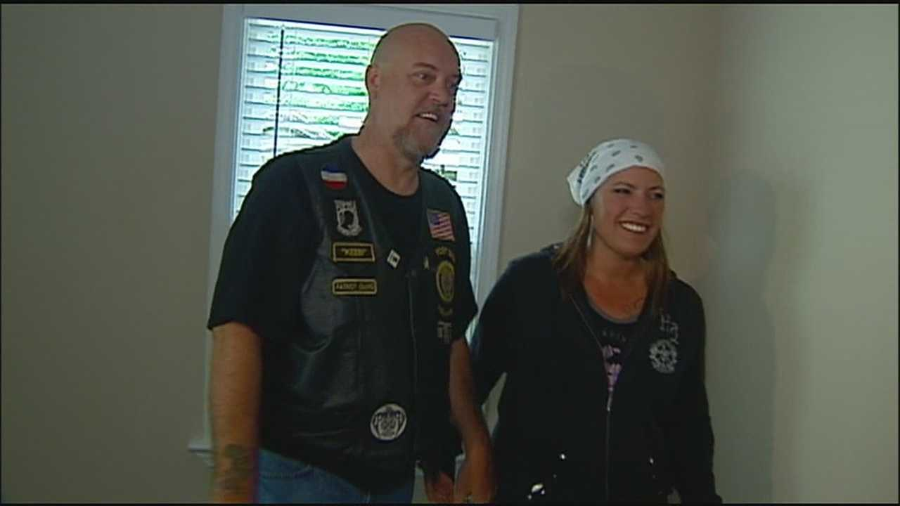 A veteran who has received many awards for military service was given a life-changing gift Tuesday: a set of keys to a new home, mortgage-free.
