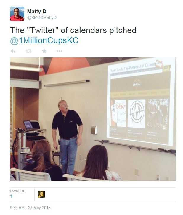 "1 Million Cups is a free, weekly national program designed to educate, engage, and connect entrepreneurs.  The forum was recently held in the ""Kauffman labs.""  The ""Twitter of calendars,"" Flowh, recently presented."
