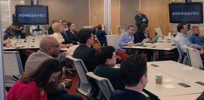 """1 Million Cups is a free, weekly national program designed to educate, engage, and connect entrepreneurs. The forum was recently held in the """"Kauffman labs."""""""