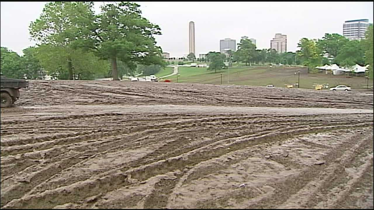 The annual Rockfest music festival left a muddy mess behind in 2010 when the fans spent the day on rain-soaked ground. With heavy rain expected to fall on already-saturated ground on Friday, the city is bracing for another messy time.