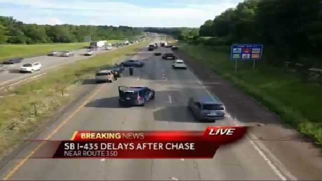 Police say a chase originated in Independence.