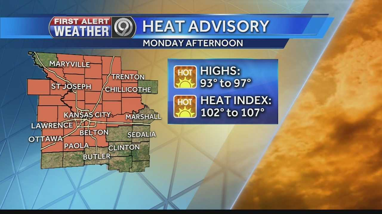 High temperatures and high humidity will combine to bring dangerous heat to the Kansas City metropolitan area Monday.