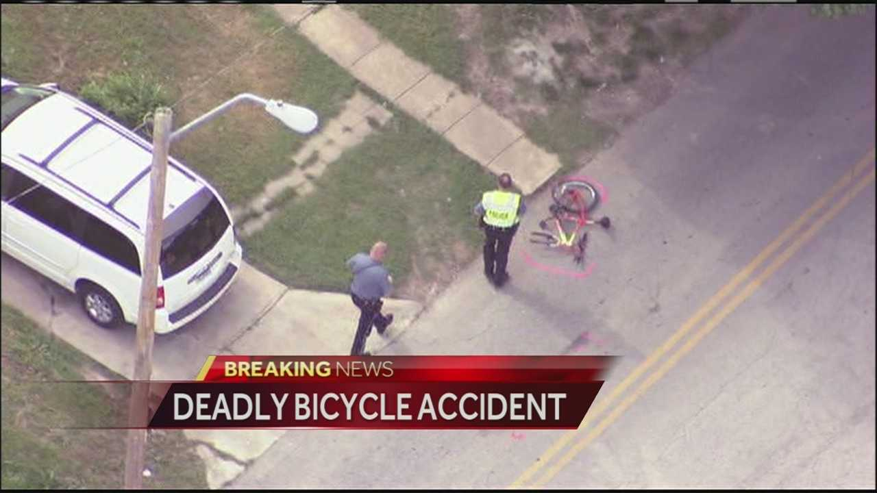 A 57-year-old man who was riding a bicycle near 45th Street and Indiana Avenue Monday afternoon was killed after his bicycle collided with a pickup truck.