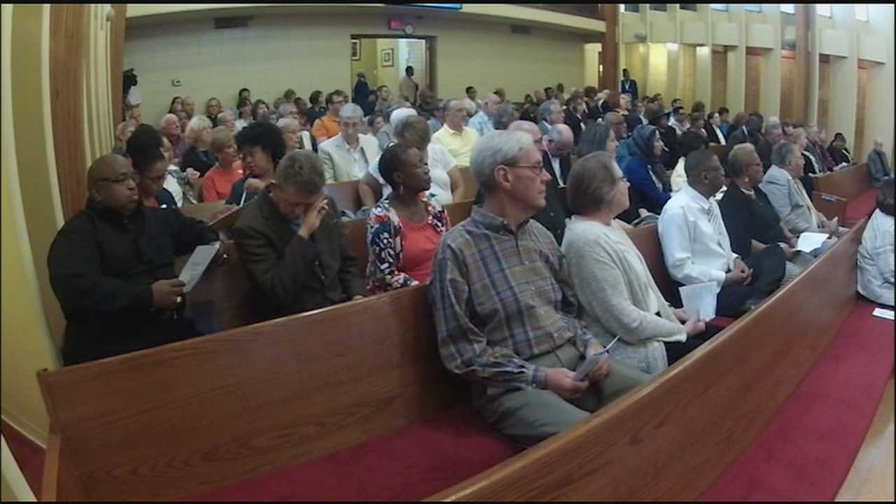 A Kansas City memorial service for the people who died in the Charleston church shootings brought speakers from six faiths together for a message of love and unity.