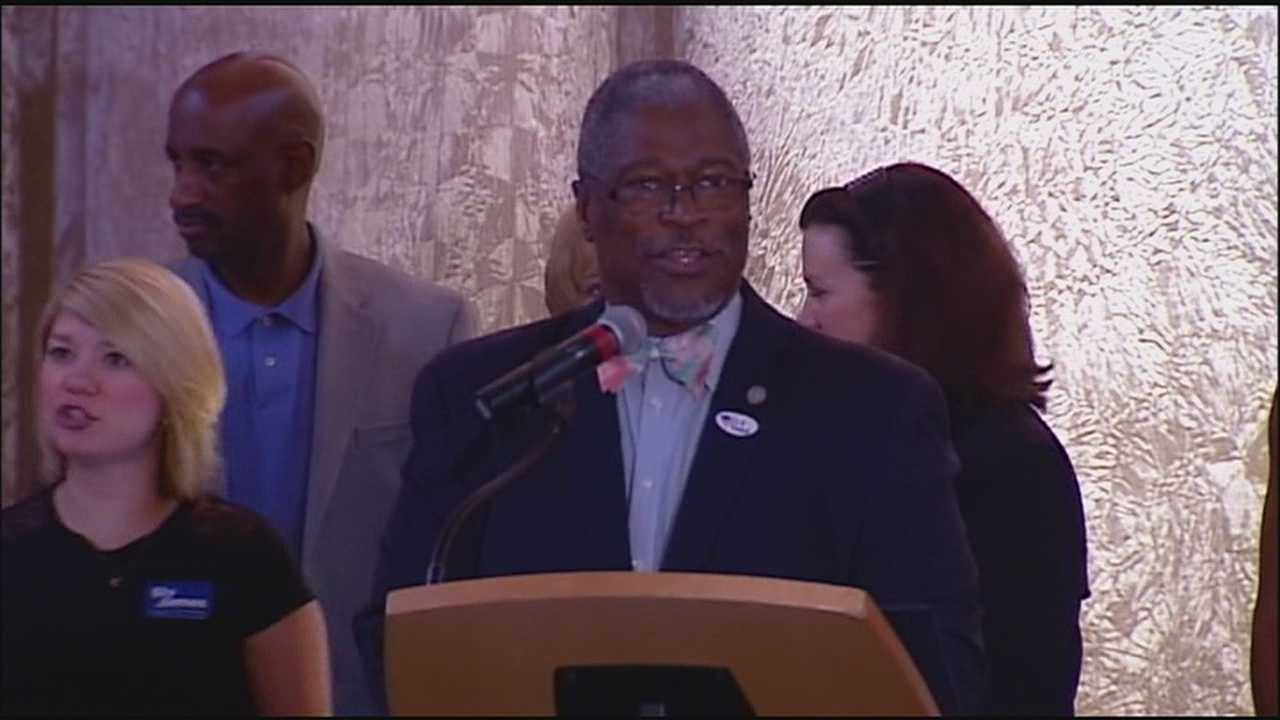 Sly James won a second term as Kansas City mayor Tuesday with a blowout win in a race that was never really contested.