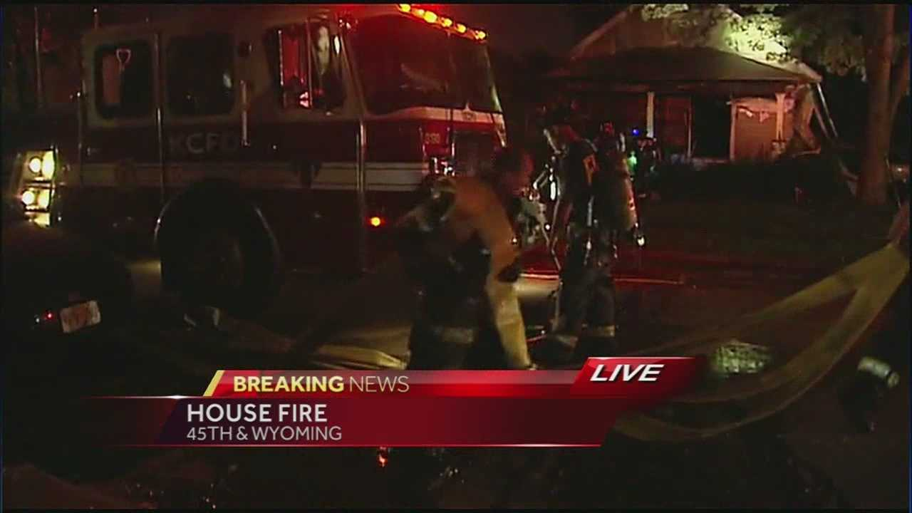 A man was taken to a hospital for observation after a fire late Tuesday at a Kansas City home.