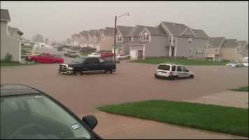 This is a snapshot from video that a viewer sent us of flash flooding in southwest Lee's Summit.