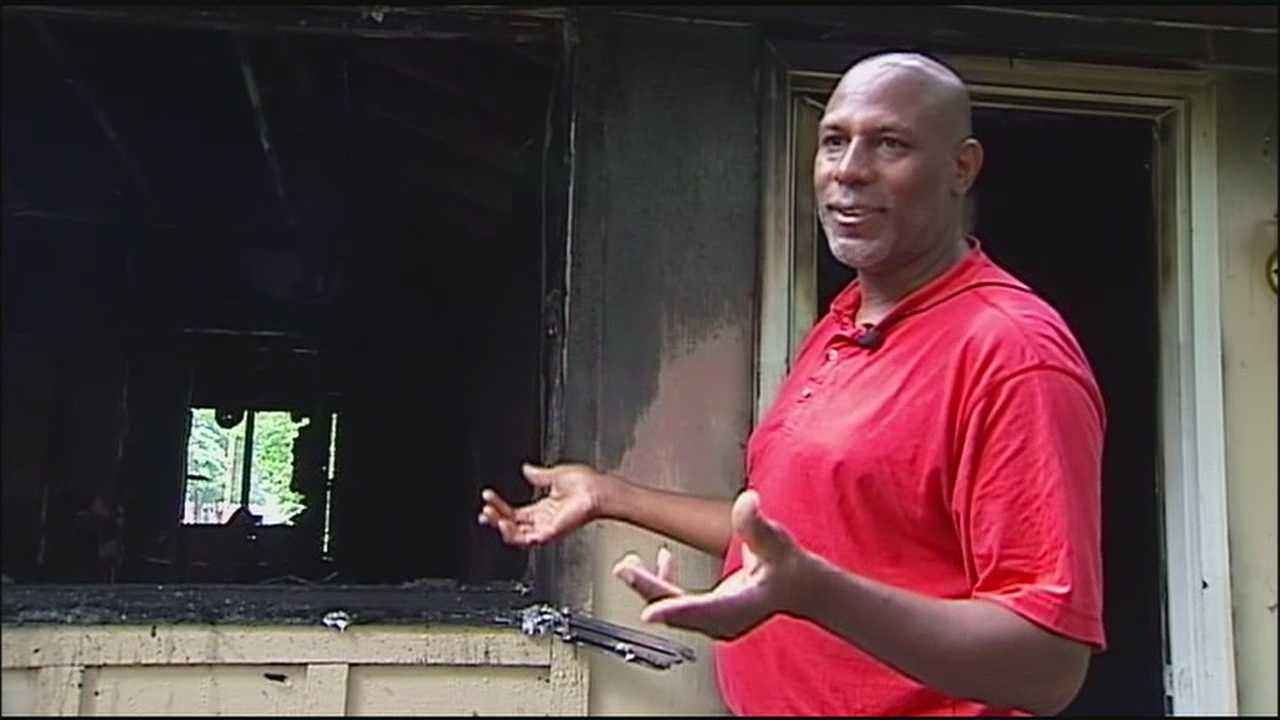 An Independence man lost his new home and everything inside it when it exploded Thursday, but he says he's blessed.