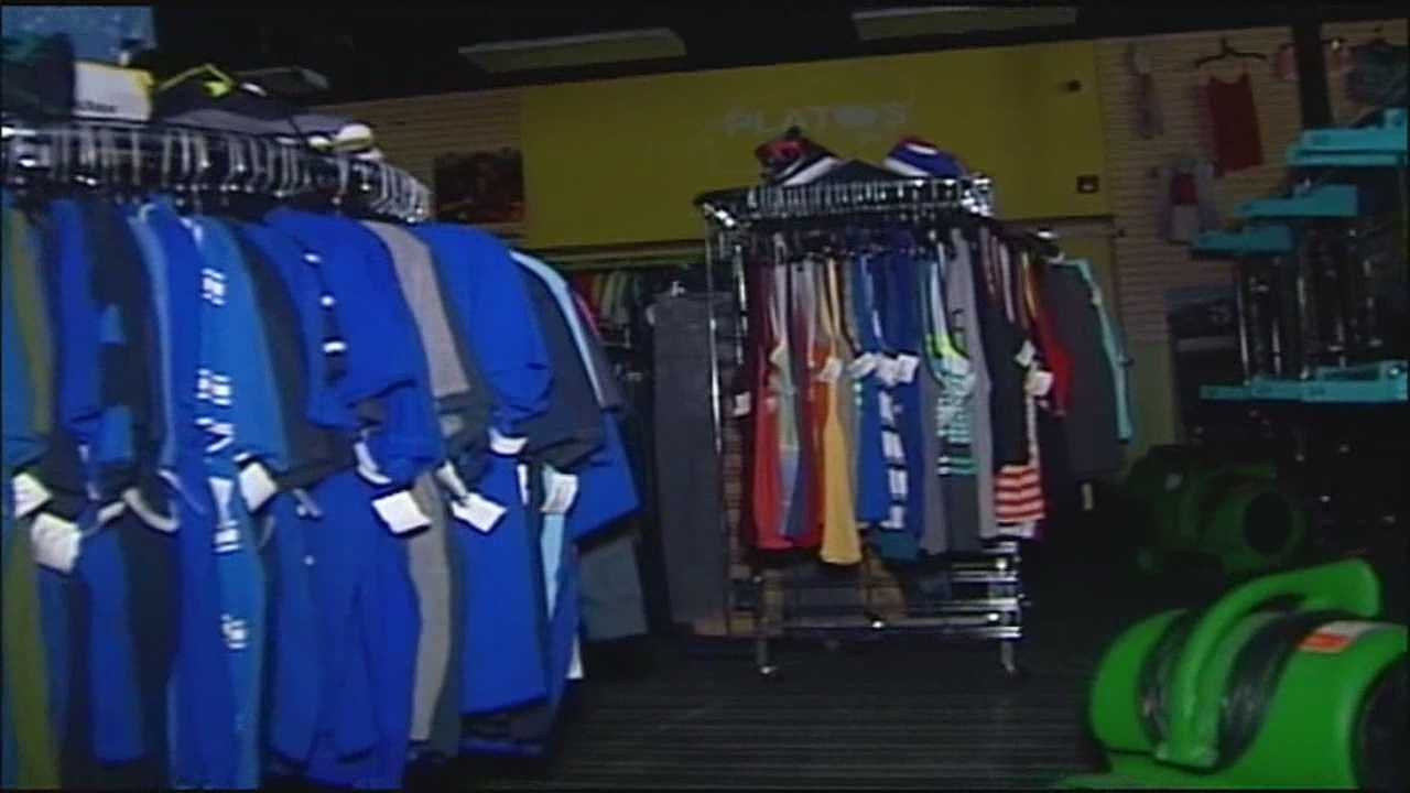 When a tornado hit Lee's Summit clothing store Plato's Closet, a hole in the roof left the merchandise soaked in the rain. Now the owner is taking the clothes -- 40,000 of them -- out for dry cleaning.