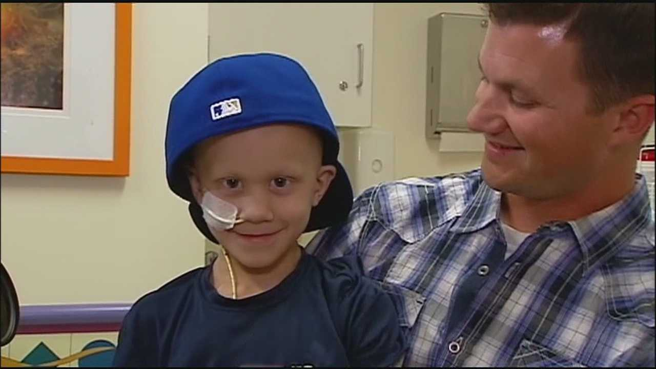 Family and friends gather Sunday evening for a visitation for Noah Wilson, the 7-year-old who touched many hearts during his battle with cancer.