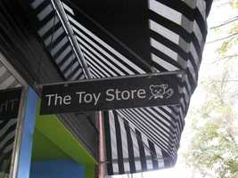 The Toy Store in Lawrence, KS (5 stars, 16 reviews)If that A/C in your car is blowing ice cold air, load up the car and take a day trip over toLawrence! A top kid-friendly Yelp recommendation is The Toy Store, loaded with tons of fun toys and a downstairs children's bookstore worth the trip.