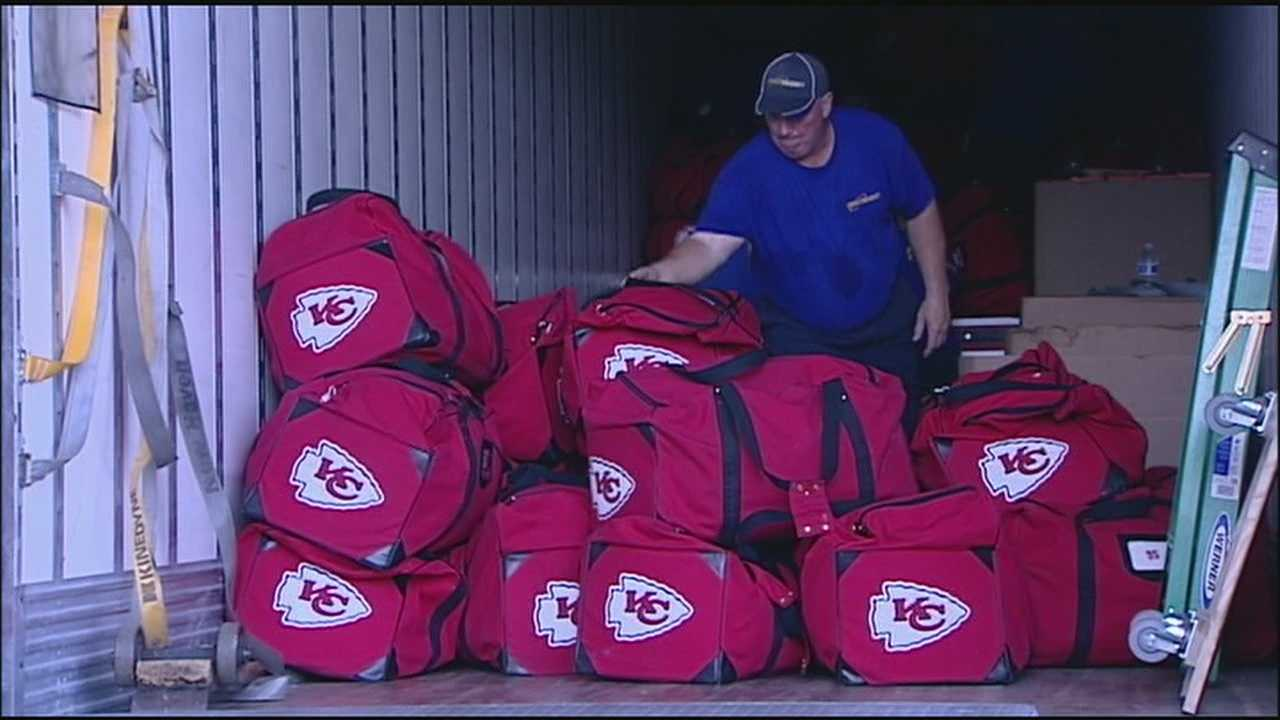 The Kansas City Chiefs have packed up footballs, uniforms, computers and other equipment for the trip to St. Joseph for training camp.