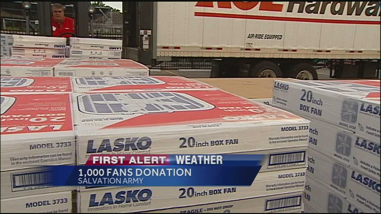 The Salvation Army receives a gift that will help more families beat the heat.