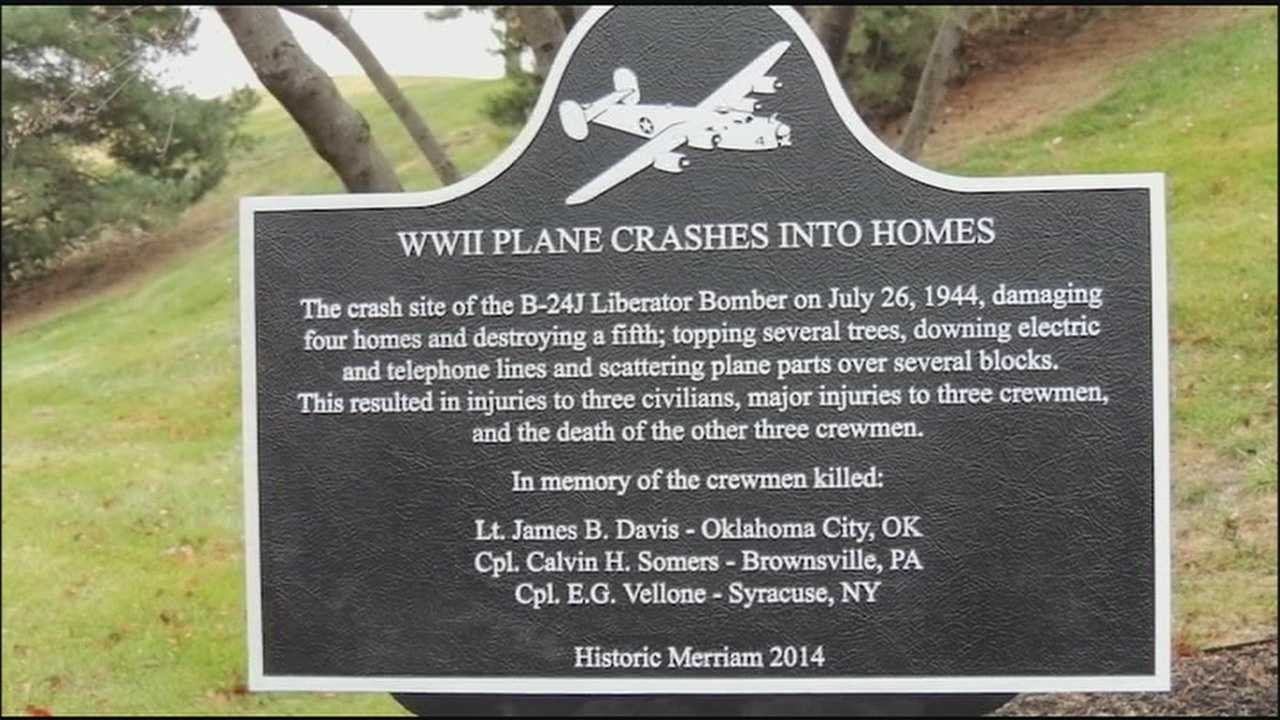 The theft of a plaque to commemorate the victims of a 1944 plane crash in Merriam has angered the 92-year-old woman who fought to get it put up.