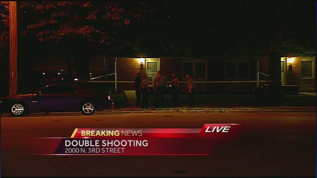 Police Chief Terry Zeigler says two people suffered minor injuries during an apparent exchange of gunfire in Kansas City, Kansas, late Thursday.