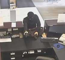 The FBI releases surveillance pictures of a robbery Friday morning at Bank Midwest near 79th Street and Ward Parkway.