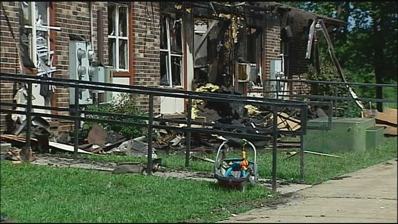 Two people go to hospitals and 14 people are left looking for a new place to live after a fire destroyed a Smithville apartment building early Tuesday.