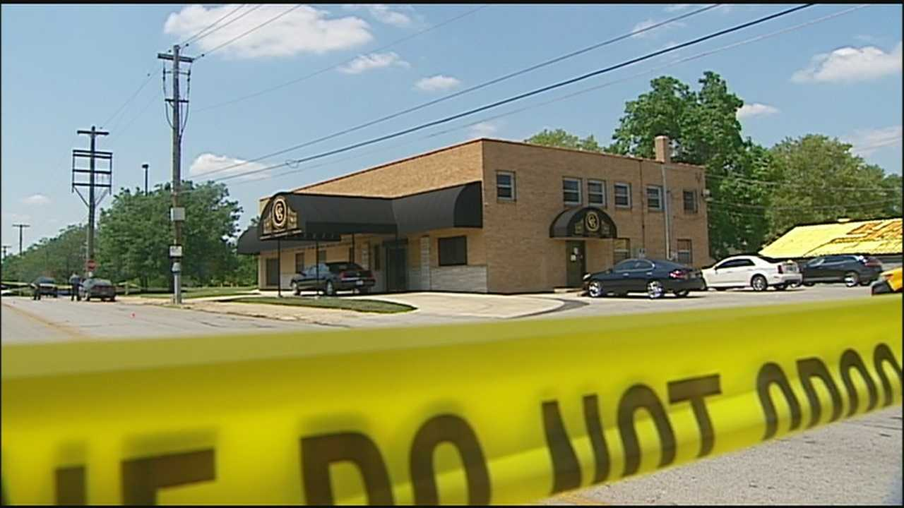Two people are injured when a disturbance outside a funeral in Kansas City leads to gunfire.