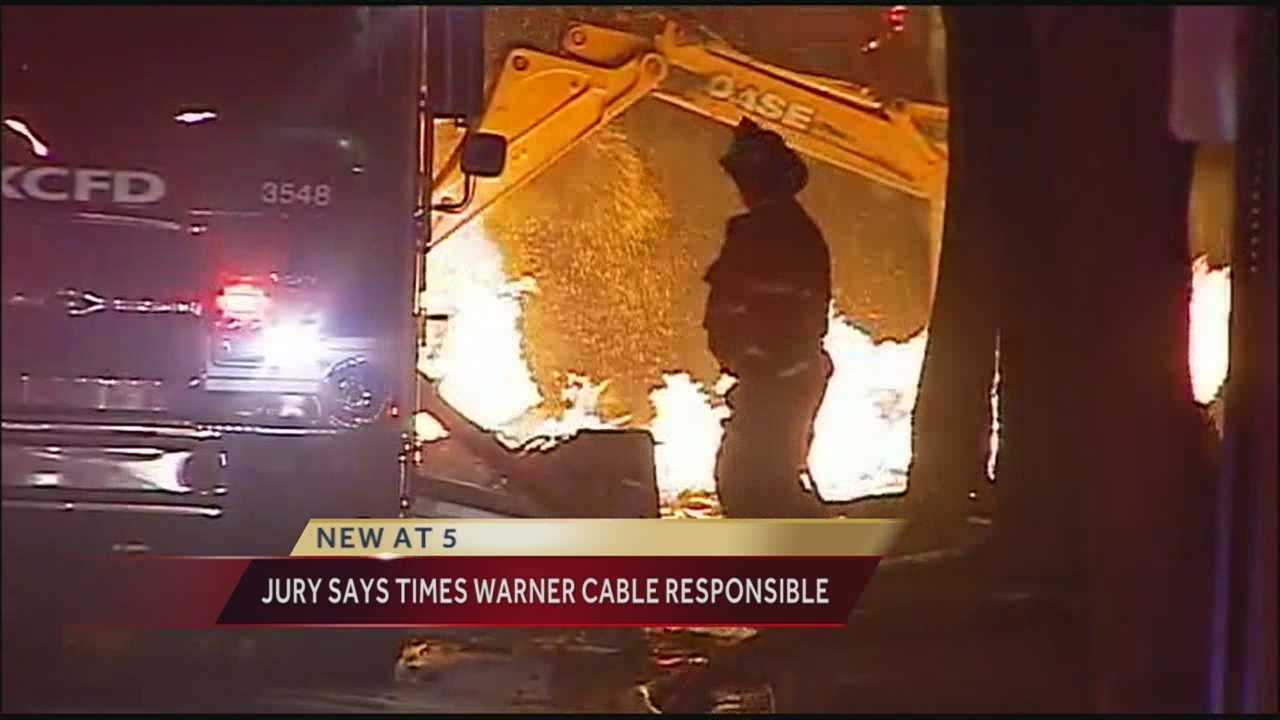 The jury in the civil trial about the 2013 explosion at JJ's restaurant on the Country Club Plaza has found Time Warner Cable mostly responsible for the blast.