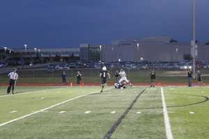Despite a pass interference, Park Hill South connects on a lengthy passing play for a touchdown to begin the second half.