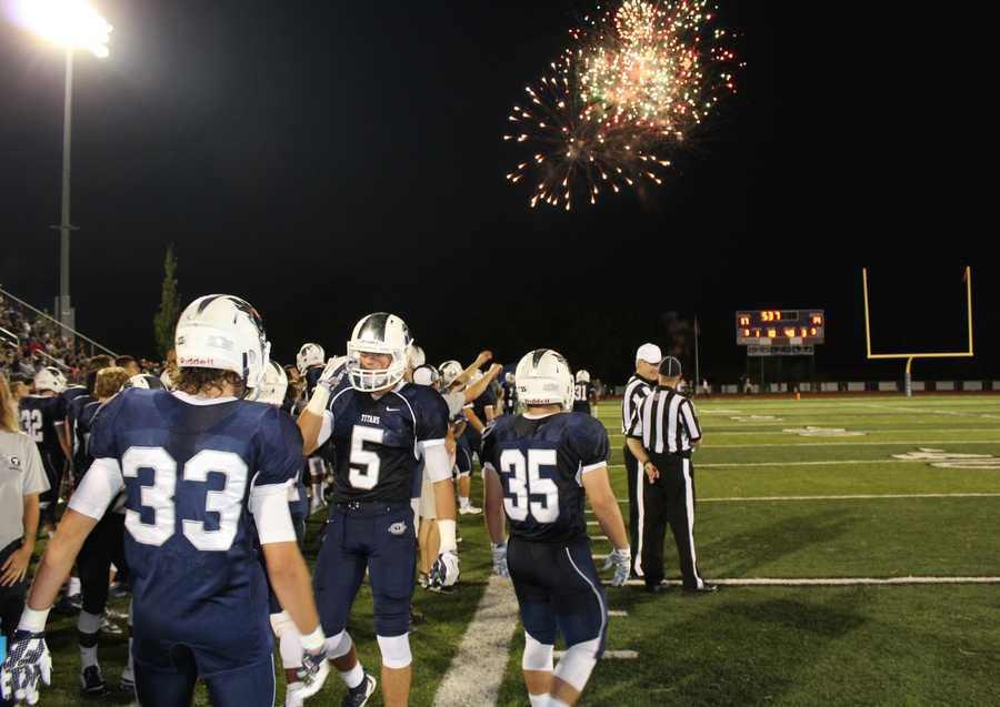 Fireworks erupt as Lee's Summit West improves to a 2-0 season record.