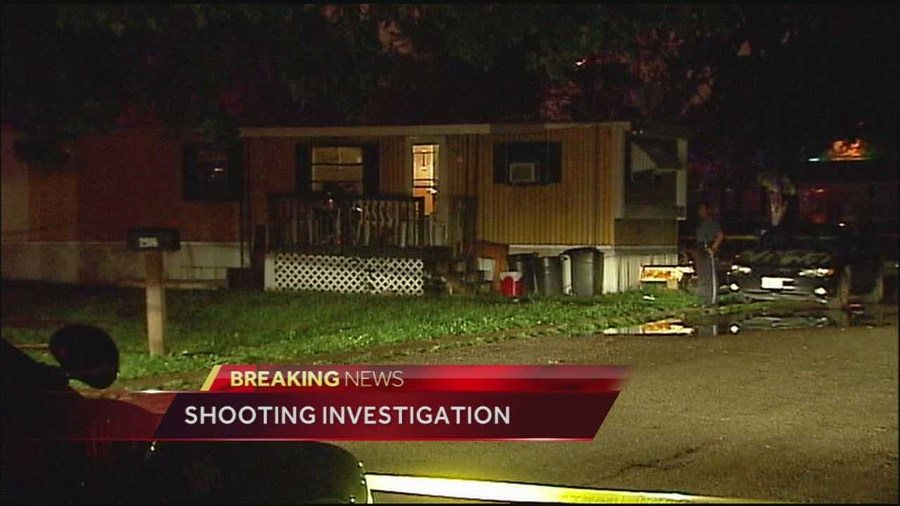 A woman and a child both suffered gunshot wounds following a shooting at a trailer park off 40 Highway overnight.