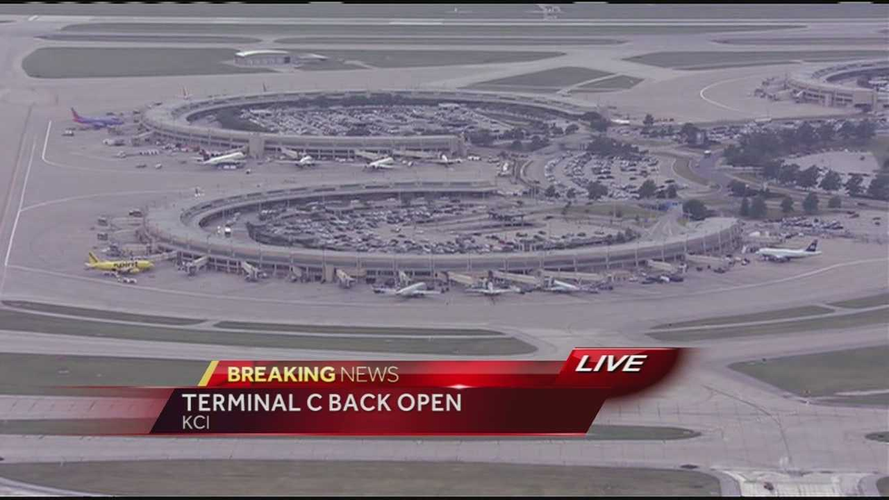 KMBC's Johnny Rowlands reports from over Kansas City International Airport where a terminal had to be shut down on Tuesday afternoon after a suspicious incident.