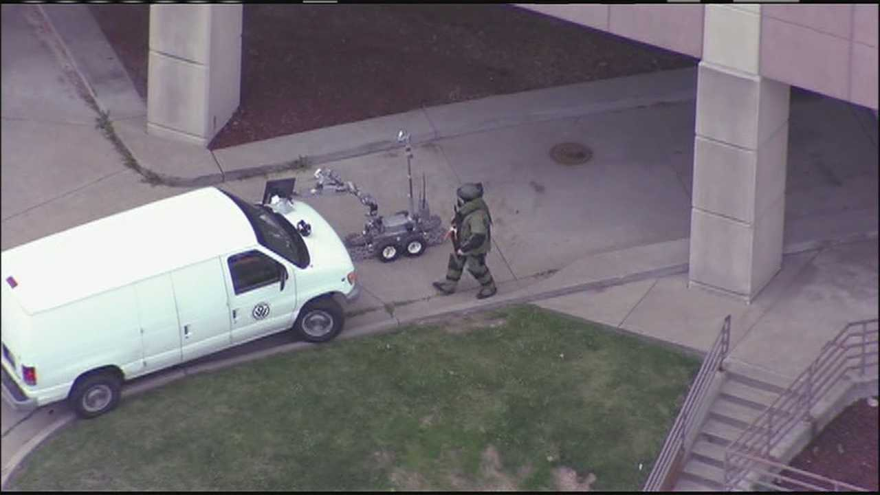 For the third time in three weeks, a bomb squad has been called to investigate a suspicious package in downtown Kansas City, Kansas.