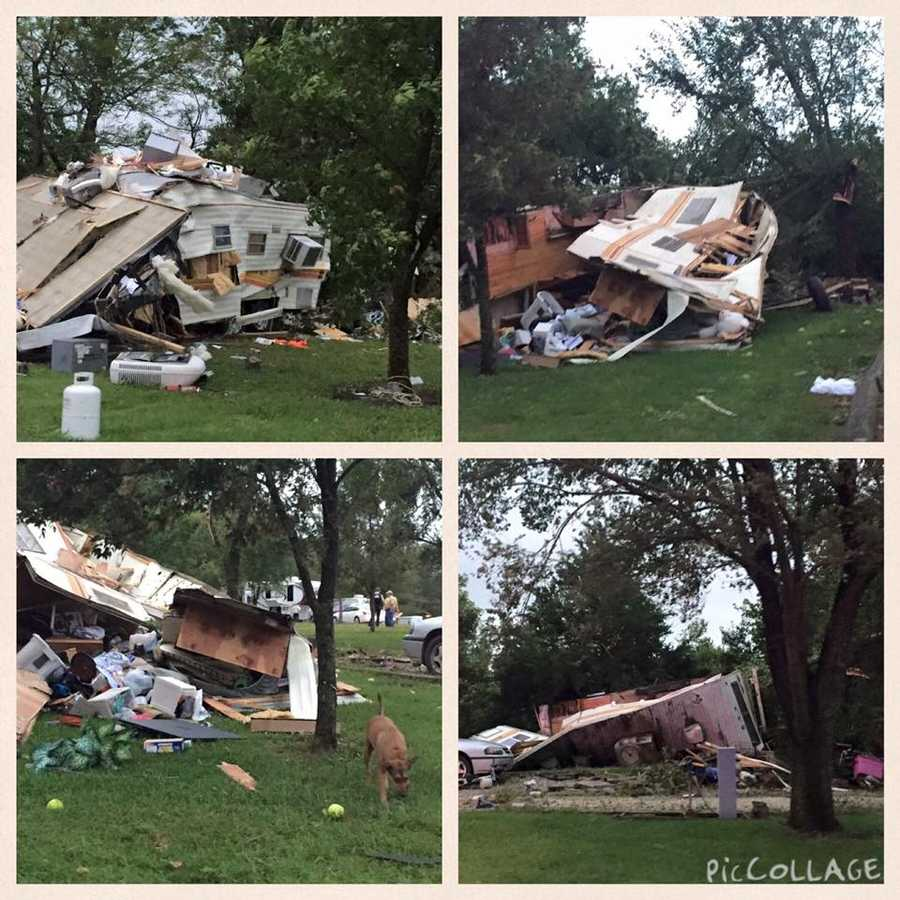 Damage at Hillsground Lake Campground from a KMBC viewer on Facebook
