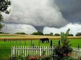 Tornado in Miami County from Miami County Historical Museum