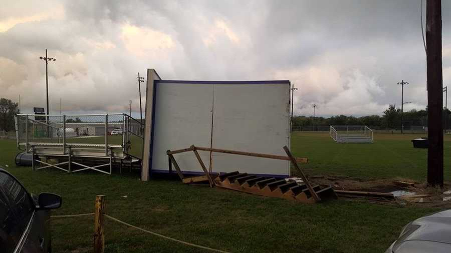 Damage at Cass Midway from Jeromy Adams on Facebook