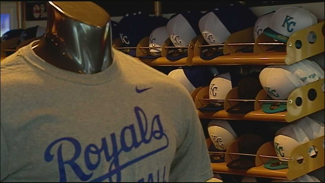 The Royals can't sell or even show off their postseason merchandise until the team clinches the division. Once they do, the stores will be ready.