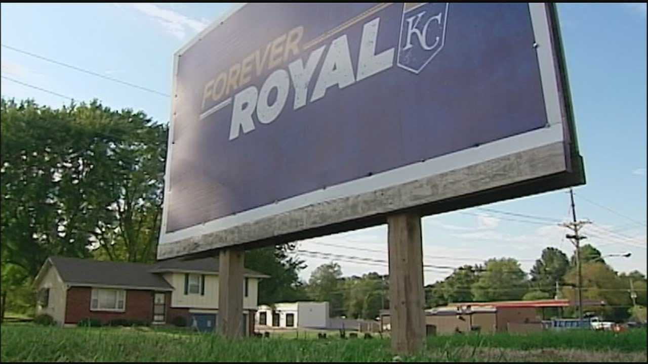 A small Missouri town that loves the Kansas City Royals had a special sign stolen from a baseball field just before opening day. With the regular season about to wind down, Greenwood gets a big surprise.