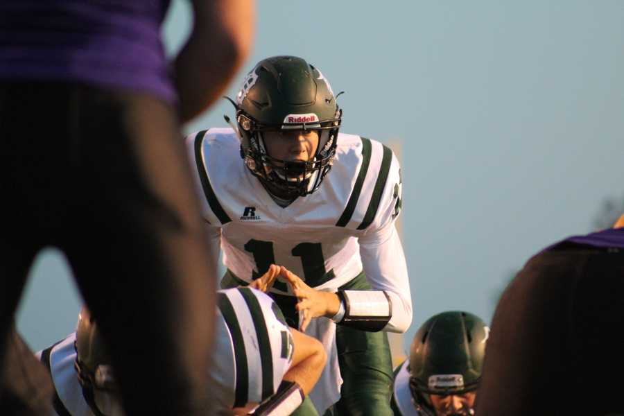 DeSoto scored the first touchdown on a short run by quarterback Nate Thompson.