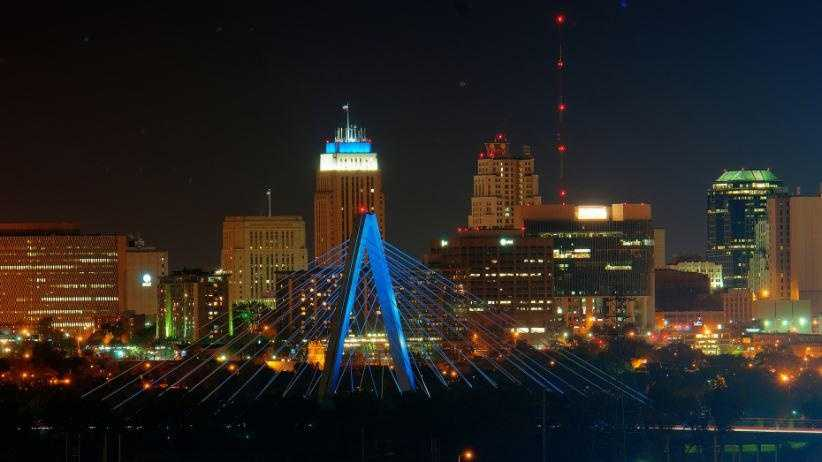 MoDOT says the Bond Bridge will shine blue for the Kansas City Royals each night of the playoffs.