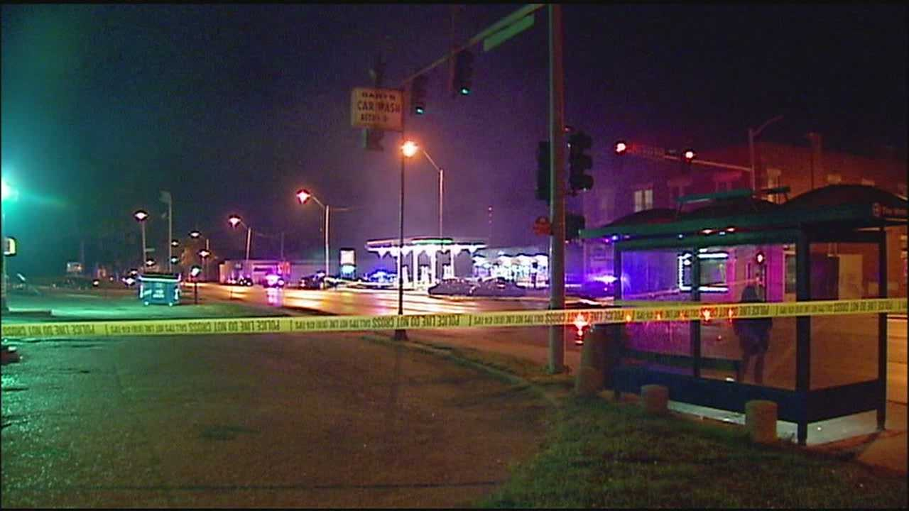 Kansas City police are investigating after two people were gunned down outside a convenience store at Independence and Chelsea avenues.