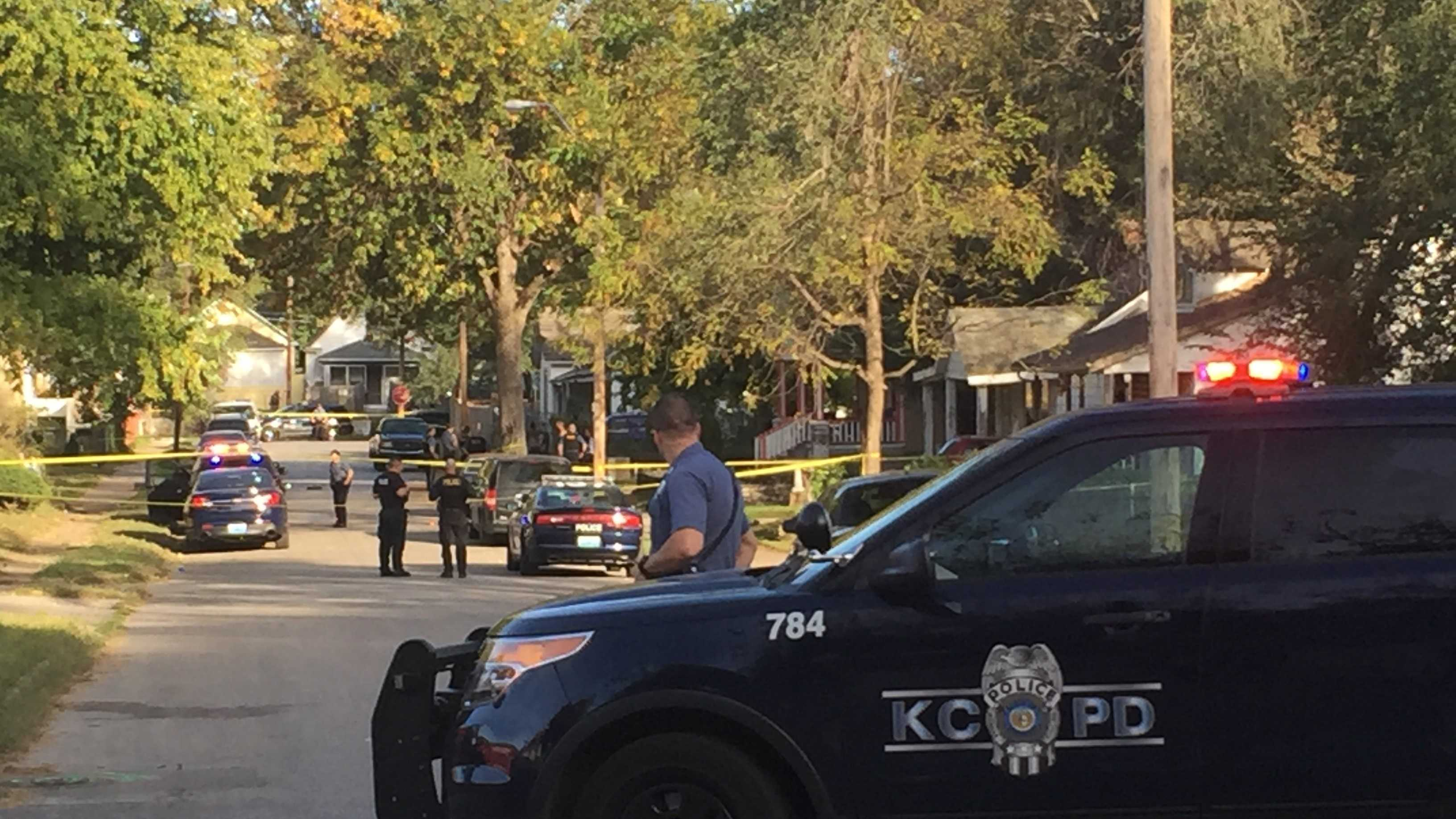 Kansas City police are investigating after a person was shot in the leg near Sixth Street and Cleveland Avenue late Saturday afternoon.