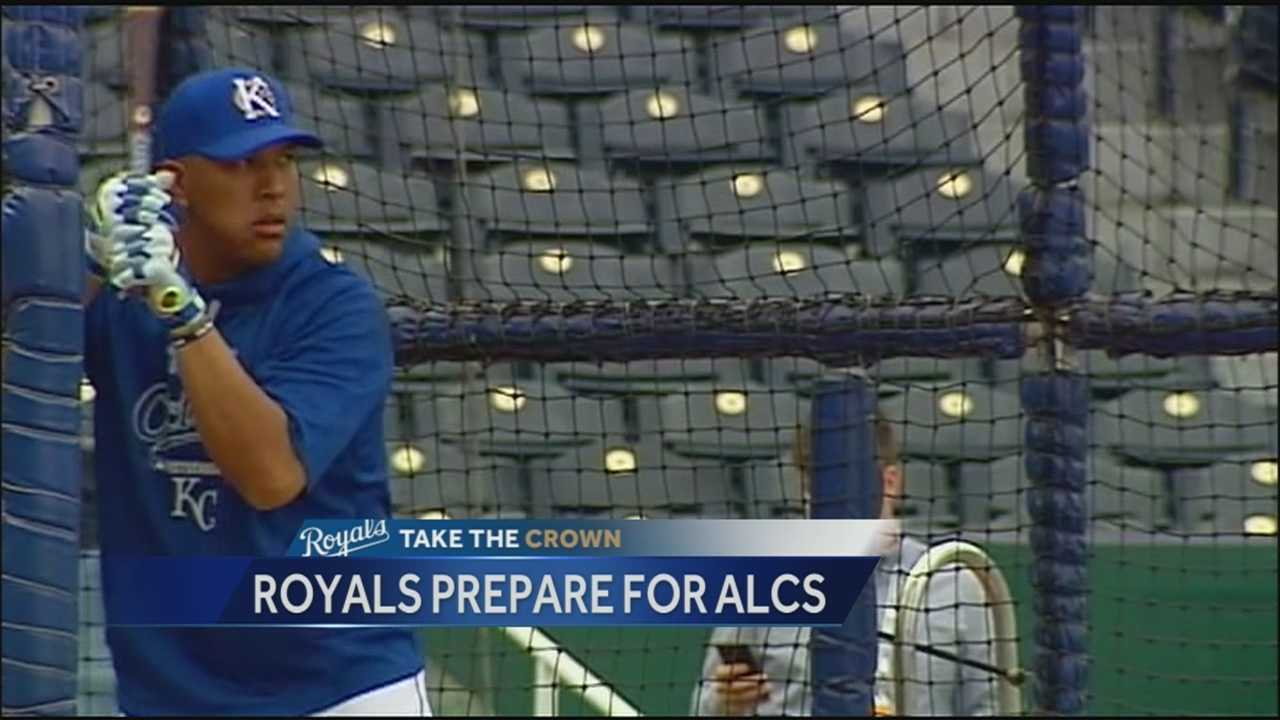 The Kansas City Royals worked out Thursday as they prepare for the start of the ALCS against the Toronto Blue Jays Friday night.