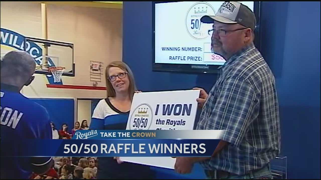 Two friends who won Wednesday's record 50-50 raffle jackpot at Kauffman Stadium said they decided to buy a ticket because half of the jackpot was going to help the families of two fallen Kansas City firefighters.
