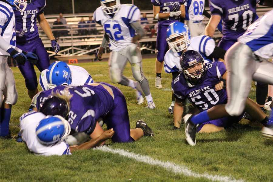 Sumner Academy turned the ball over on a mishandled snap.