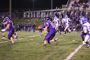 Grant Harding and the Louisburg defense force another turnover.