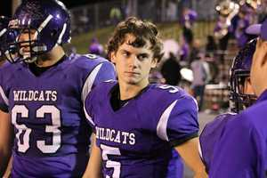 Austin Terry scored on a quarterback keeper to give the Wildcats a 49-0 lead with 9 minutes remaining in the first half. Louisburg led 56-0 at halftime.