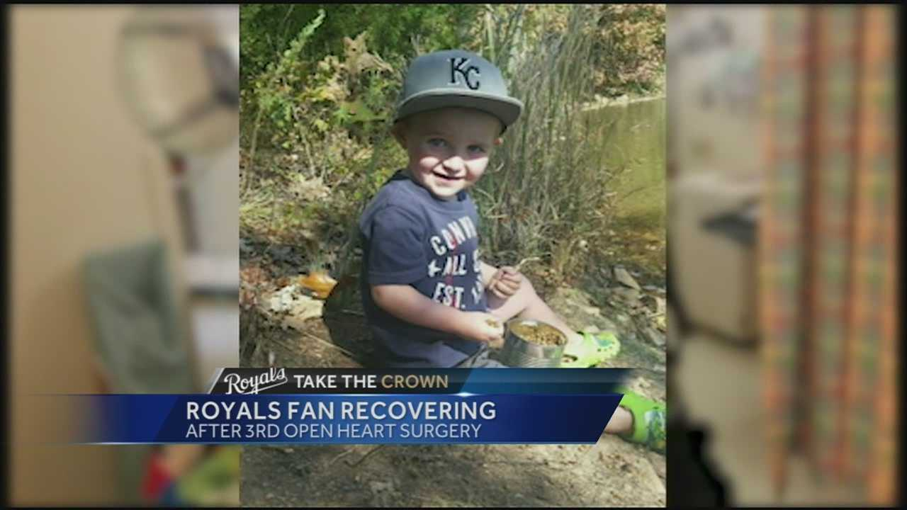 A young Royals fan who won a lot of hearts with an inspirational poster is doing much better after surgery.