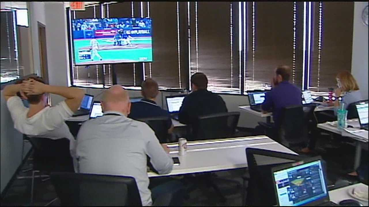 Having Game 4 of the ALCS in the middle of a work day wasn't the ideal situation for a lot of Royals fans, but some managed to find a way to enjoy the game anyway.