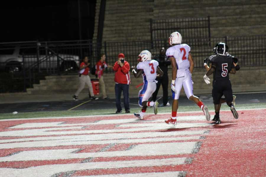 Olathe North mounted a comeback, beginning with this touchdown by Vinnie Shabazz.