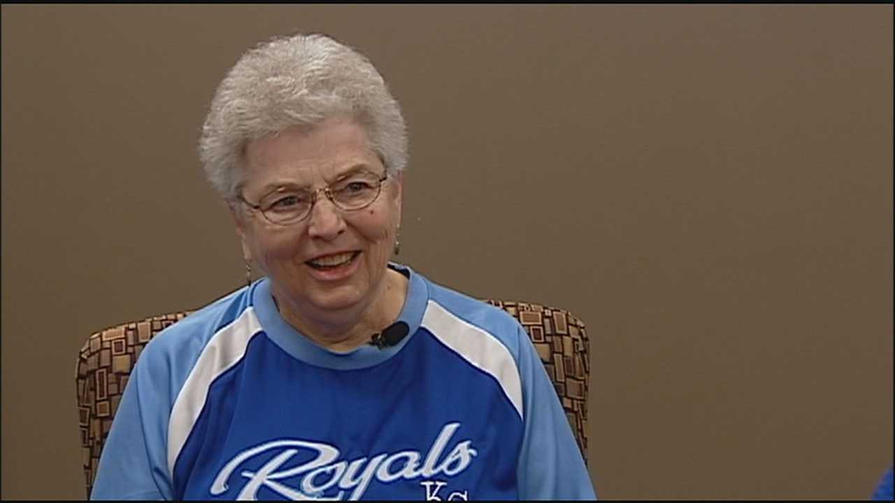 Providence Medical Center in Kansas City, Kansas, is whooping it up for the Kansas City Royals in the World Series and a nun named Sister Jane Jackson is leading the cheers.
