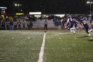 The Truman Patriots kicked the ball off to begin the game.